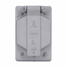 CROUSE-H WLRS1 WET LOCATION ALUMINUM SINGLE DEVICE COVER 1GANG