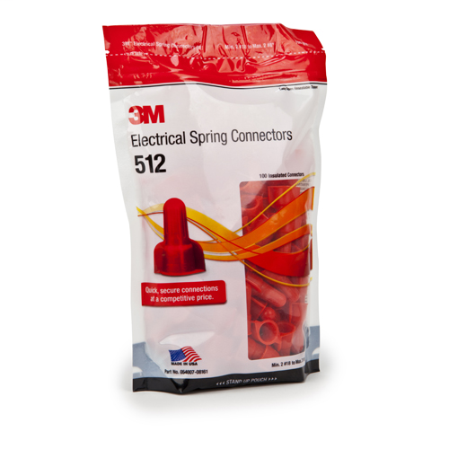 3M 512 RED WING WIRE CONNECTOR (500 BAG)
