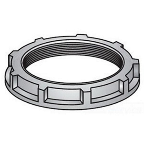 OZ-Gedney Type 2 Non-Grounding Conduit Bushing, Size: 1 IN, Malleable Iron, Finish: Zinc Plated, Connection: Threaded NPS, 1-9/16 IN Outside Diameter, 1/2 IN Width, Third Party Certification: UL File Number E-11853, CSA 009795, Applicable Third Part