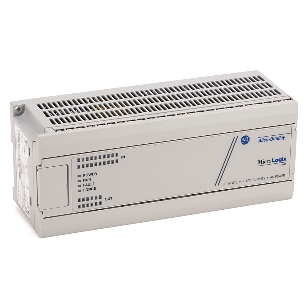 A-B 1761-L32BWB MICROLOGIX 1000 20-DC INPUTS 12-RELAY OUT PUTS DC POWER SUPPLY