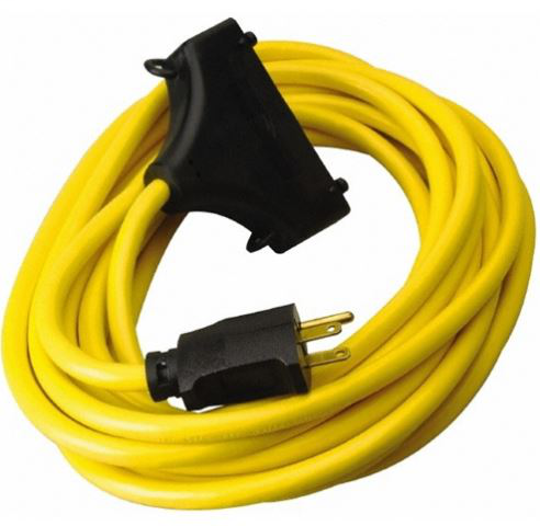 COLEMAN 26020008-6 2FT IN LINE GFCI PROTECTED TRI-CORD EXTENSION CORD