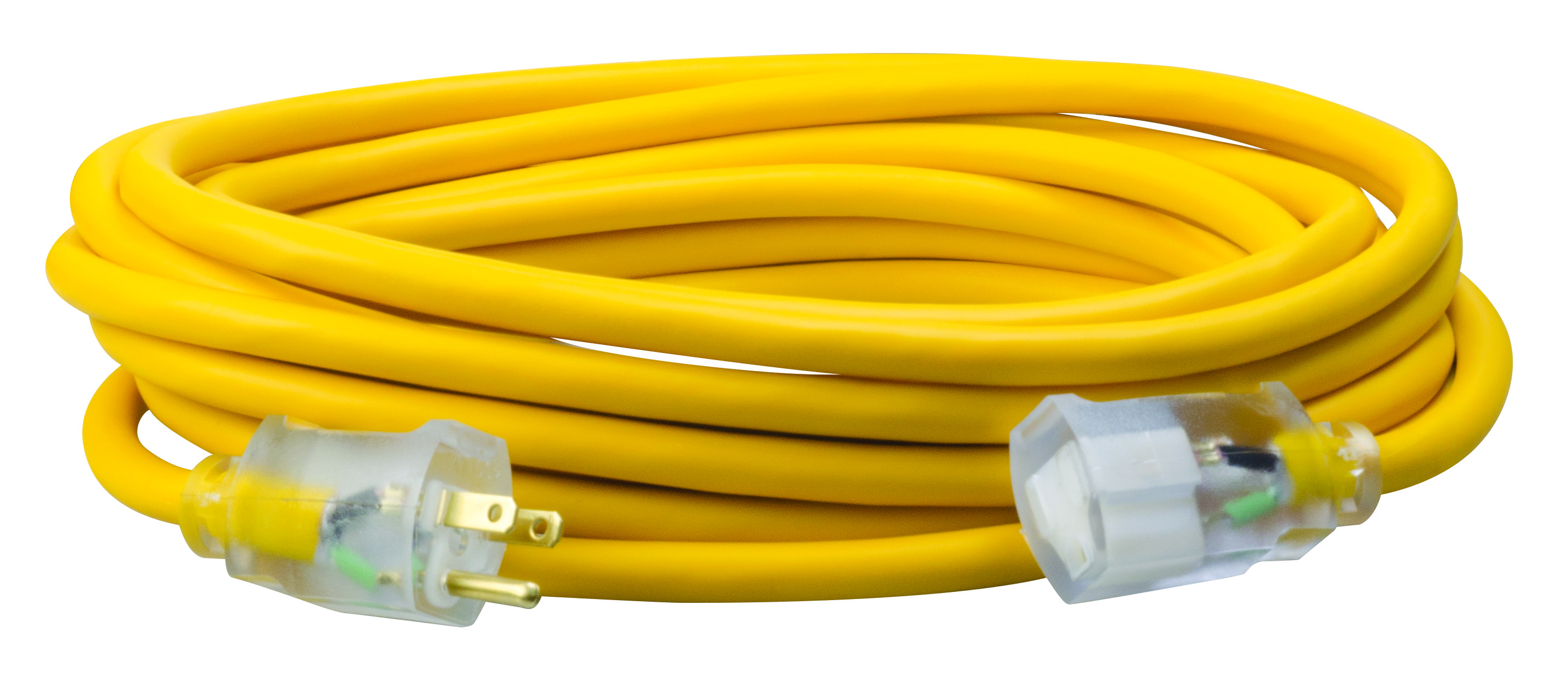 COLEMAN 01687 12/3 25FT SJEO YELLOW LIGHT/END EXTENSION CORD