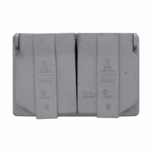 CROUSE-H WLRD1 1GANG WET LOCATION ALUMINUM DUPLEX RECEPTACLE COVER