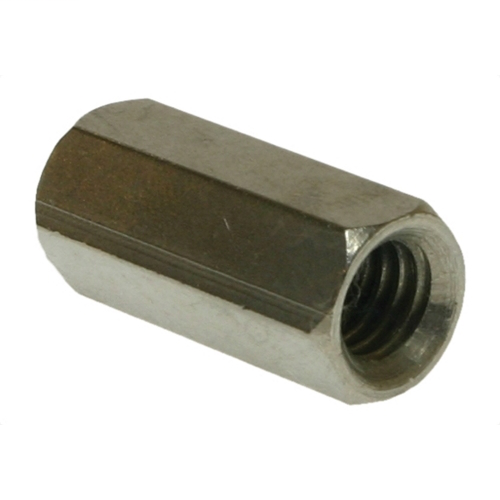 METALLICS Hex Rod Coupling, 1/2-13 in. size, 1-1/4 in. length, Steel, Zinc Chromate finish, 50 per pack
