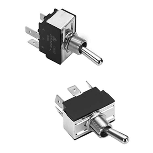MCGILL 0121/0140 Series Multi-Pole Toggle Switches, 15 Amp, 2 Poles, DPST Poles, Screw Terminal