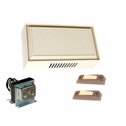 EDWARDS Builders chime kit.  Includes C210 two entrance chime, Cat. No. 590 transformer, two pushbuttons