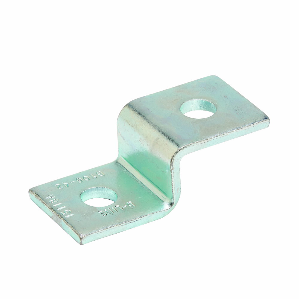 TWO HOLE Z-SUPPORT FOR B42 CHANNEL, ZINC PLATED