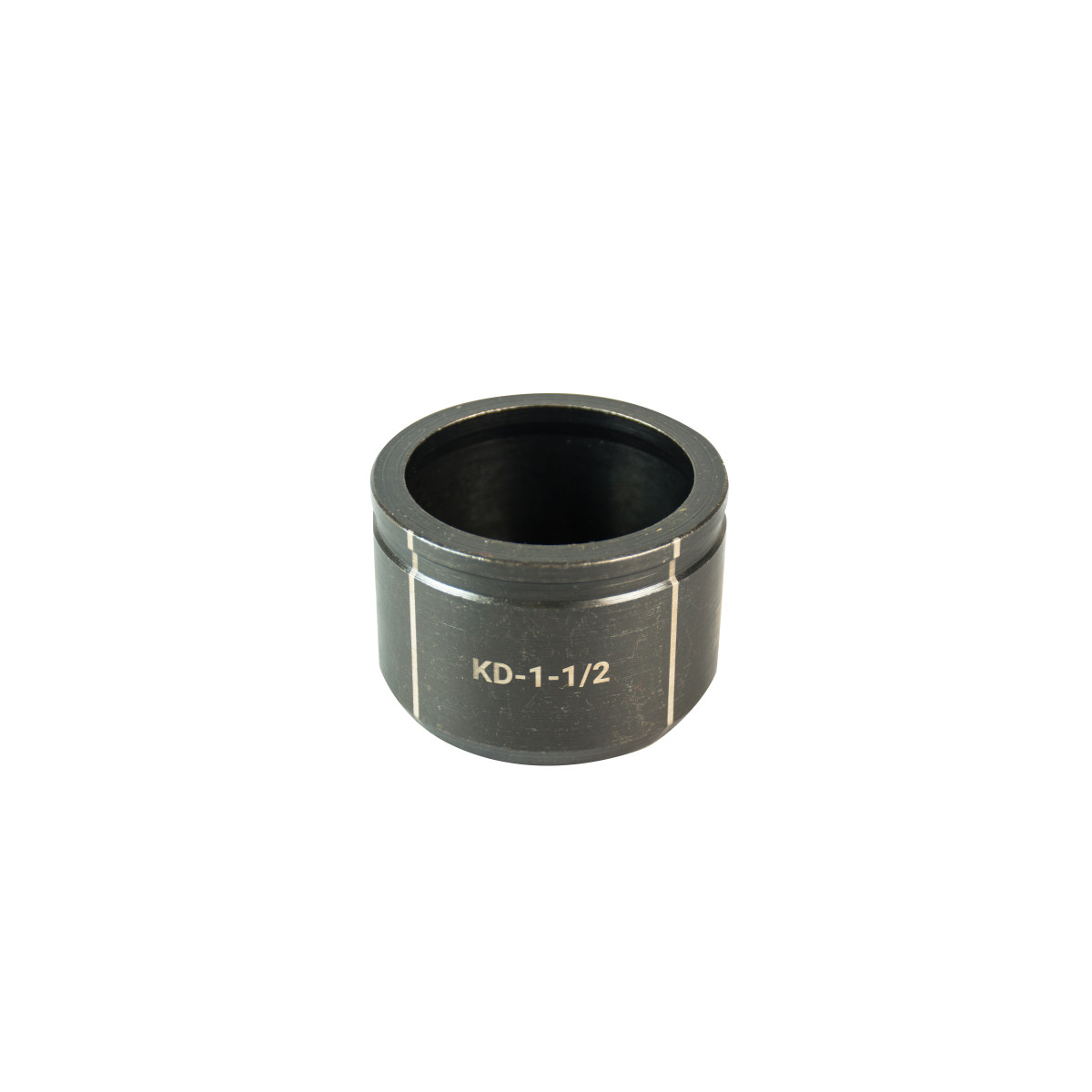 """GREENLEE 1-1/2"""" Conduit Size Knockout Die.  Optimized for widest range of materials and drivers.  Alignment markings for improved accuracy.  Laser markings for quick part identification.  Made in USA"""