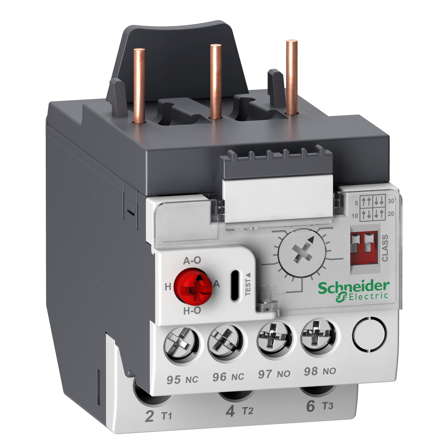SQUARE D Electronic thermal overload relay, TeSys LRD, 3 pole, 0.4A to 2A