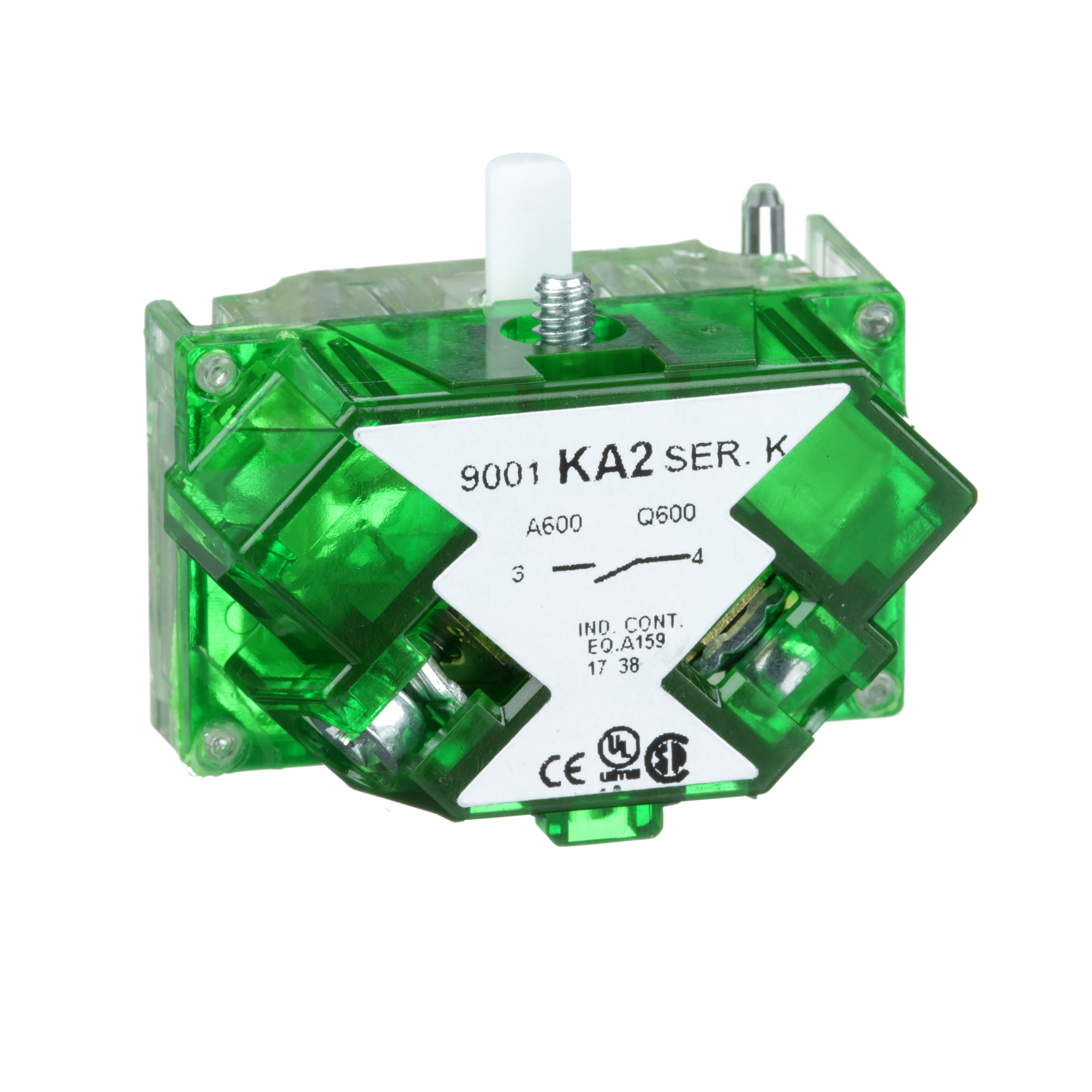 SQUARE D 30mm Push Button, Types K, SK or KX, contact block, 1 NO