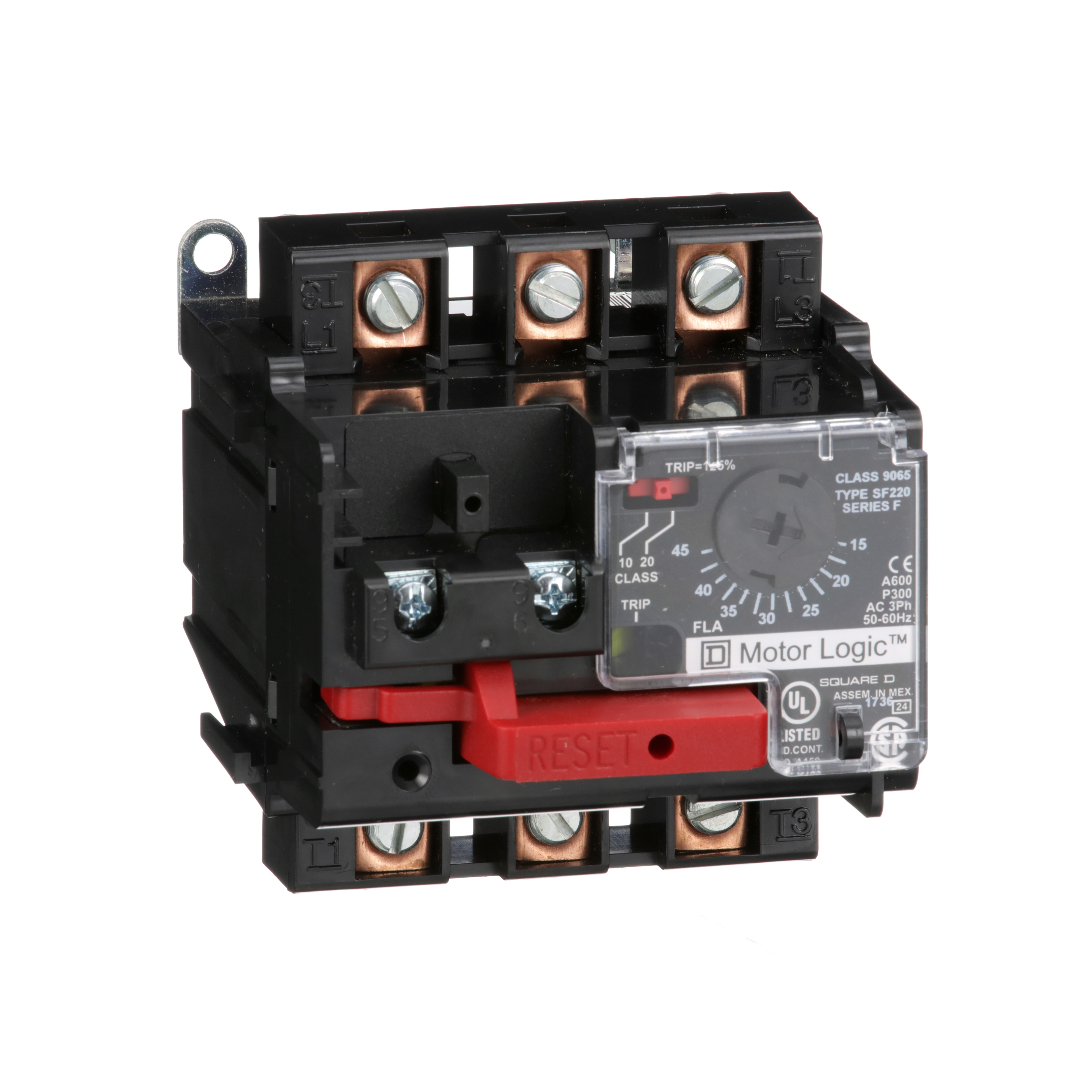 SQUARE D Motor Logic solid state overload relay, separate mount, NEMA Size 2, 15 to 45 A, 600 VAC