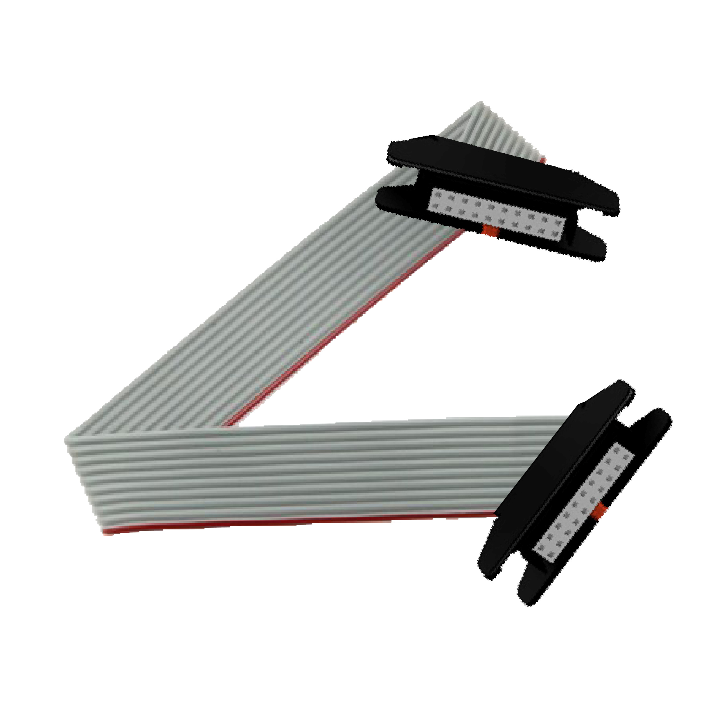 Rolled ribbon connecting cable - for I/O module with HE10 connectors - 3 m