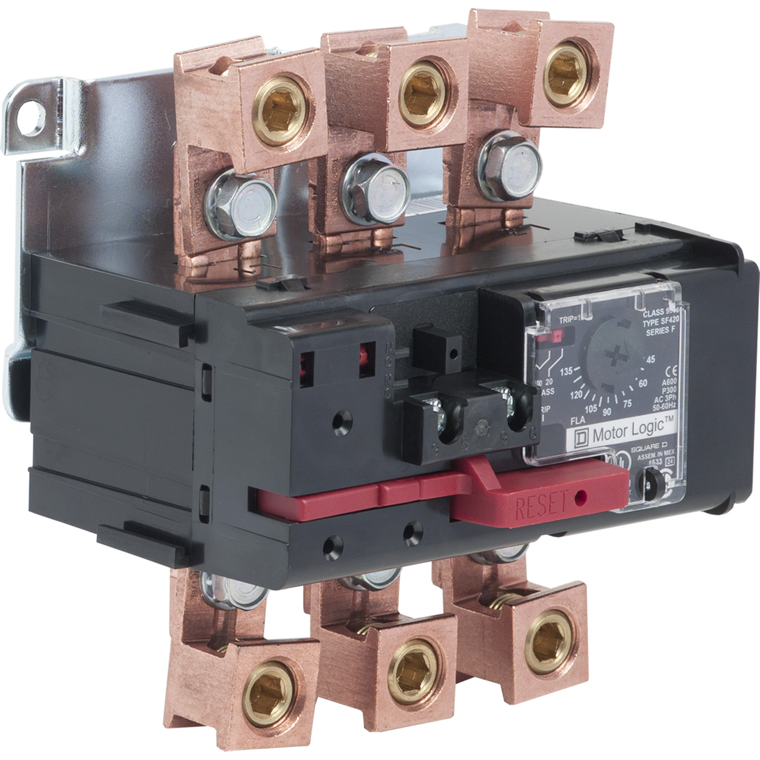 SQUARE D Motor Logic solid state overload relay, separate mount, Size 4, 45 to 135 A, 600 VAC