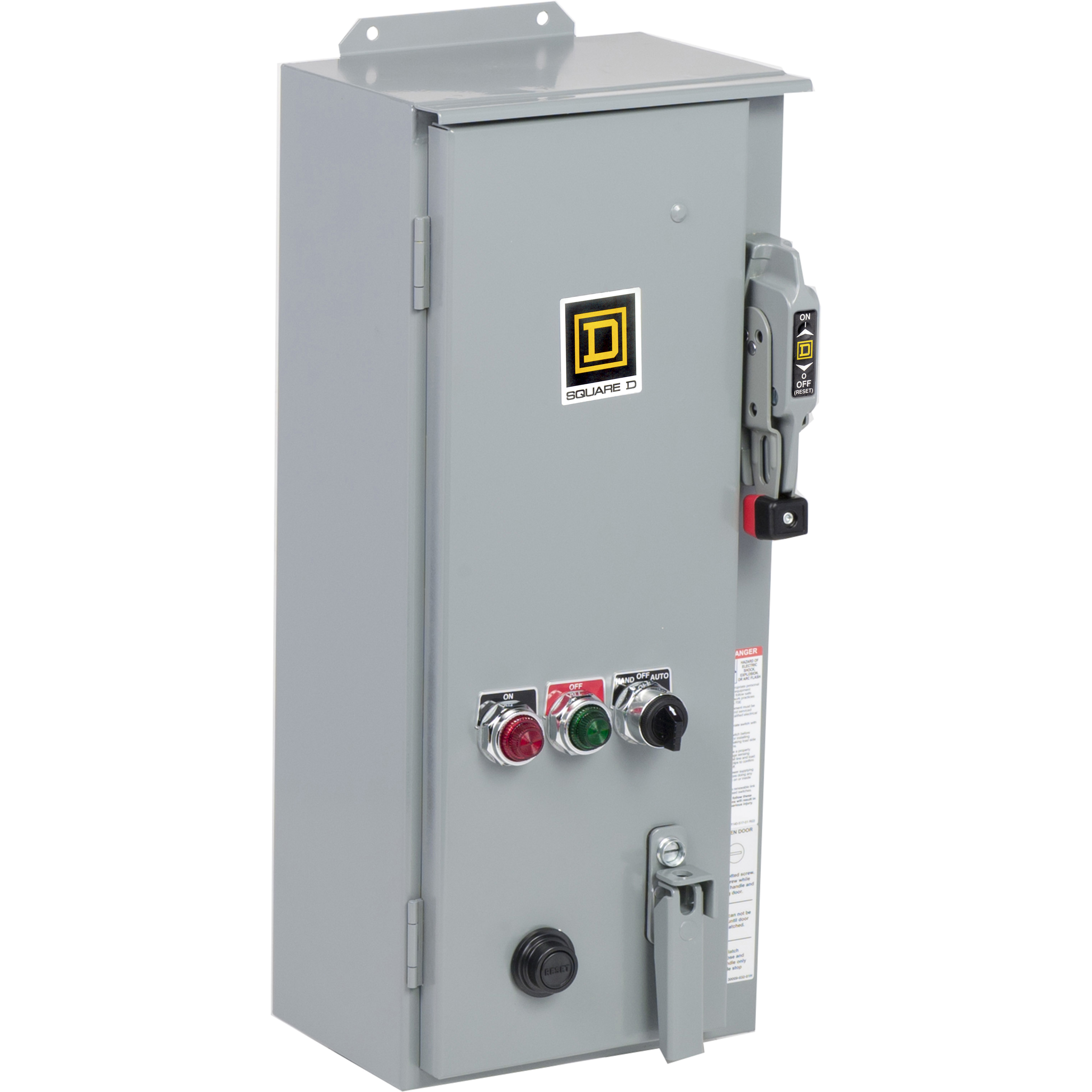 SQUARE D Combination Starter, Type S, fusible disconnect, Size 2, 45A, 3 pole, 120VAC coil, melting alloy overload, NEMA 3R/12