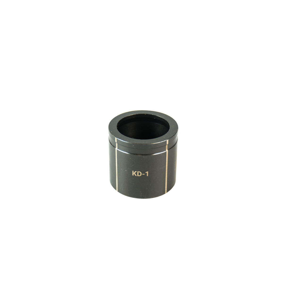 """GREENLEE 1"""" Conduit Size Knockout Die.  Optimized for widest range of materials and drivers.  Alignment markings for improved accuracy.  Laser markings for quick part identification.  Made in USA"""