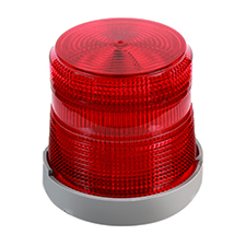 Light duty strobe designed for indoor or outdoor installation. May be direct or 1/2 in. conduit mounted on any plane.