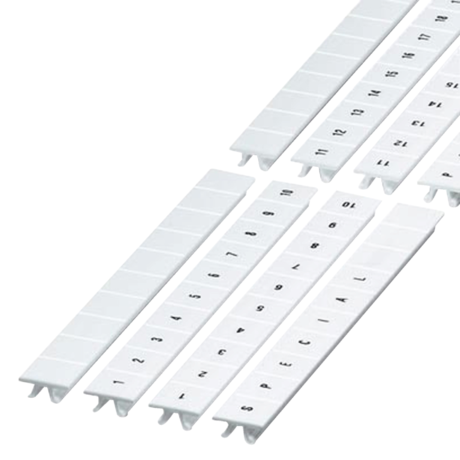 SCHNEIDER ELECTRIC CLIP IN MARKING STRIP, 10MM, 10 CHARACTERS 21 TO 30, PRINTED HORIZONT