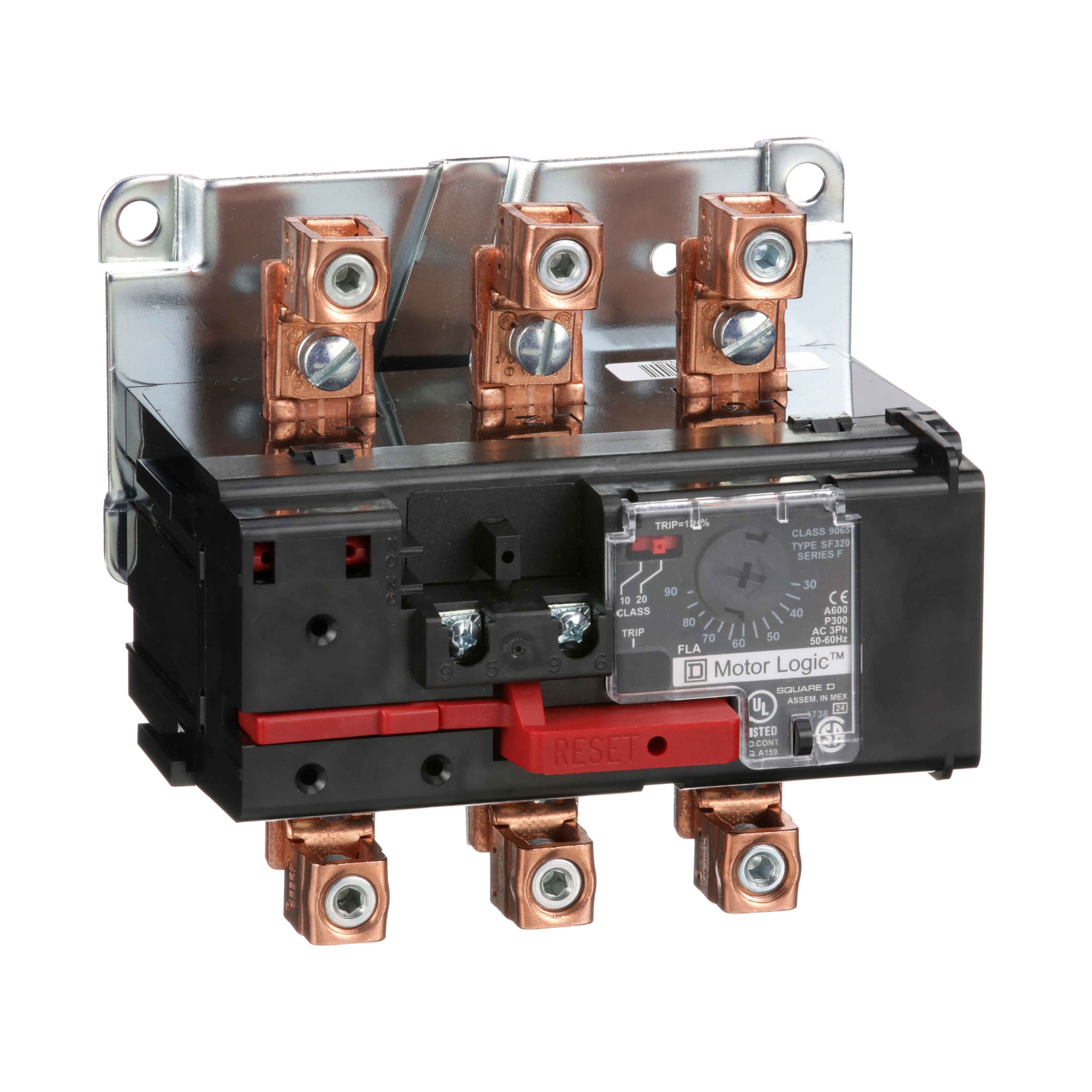 SQUARE D Motor Logic solid state overload relay, separate mount, NEMA Size 3, 30 to 90 A, 600 VAC