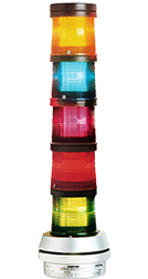 101 Series Steady-On Incandescent Light Module.  Up to 5 can be stacked in any order on a 101 Series Base