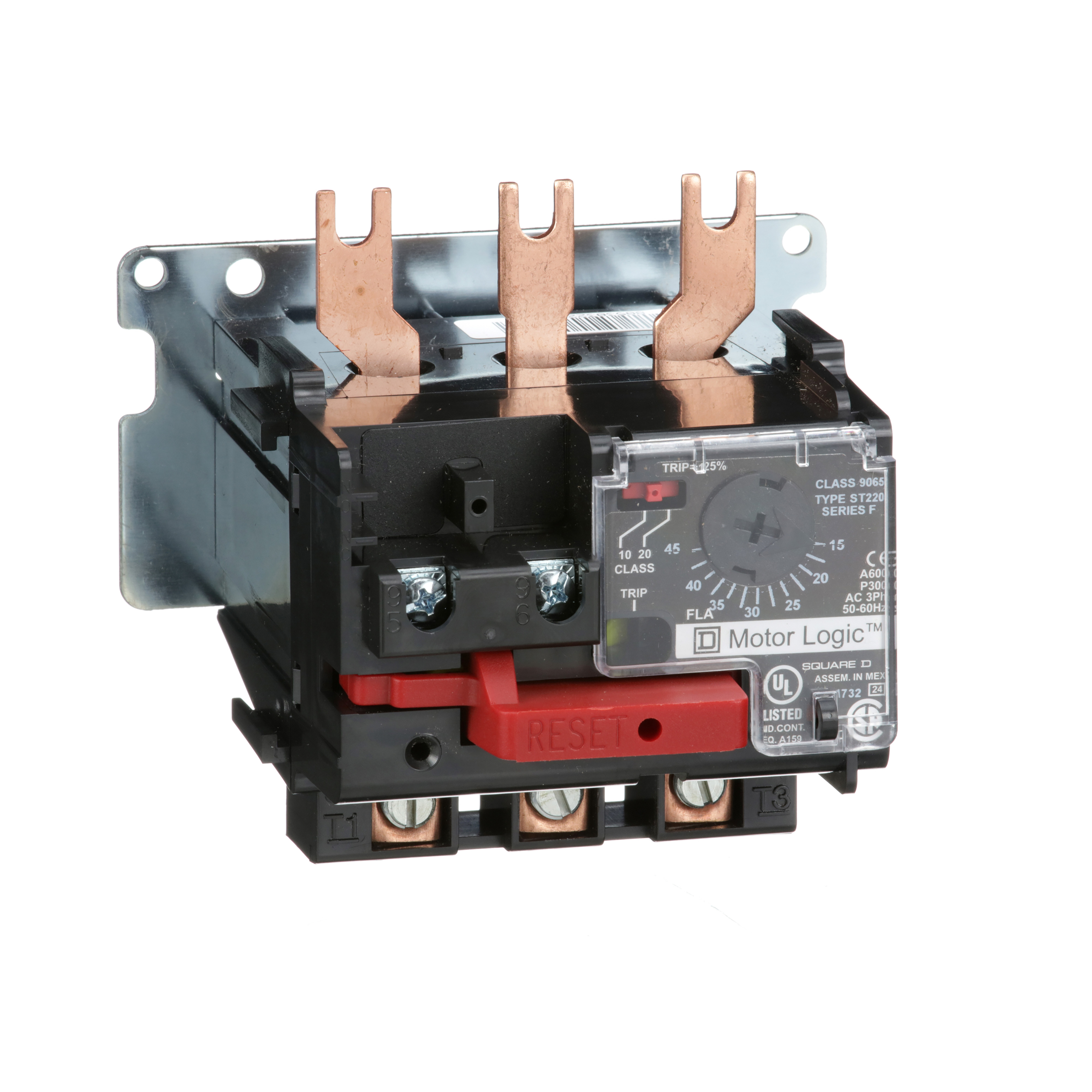 SQUARE D Motor Logic solid state overload relay, replacement, NEMA Size 2, 15 to 45 A, 600 VAC