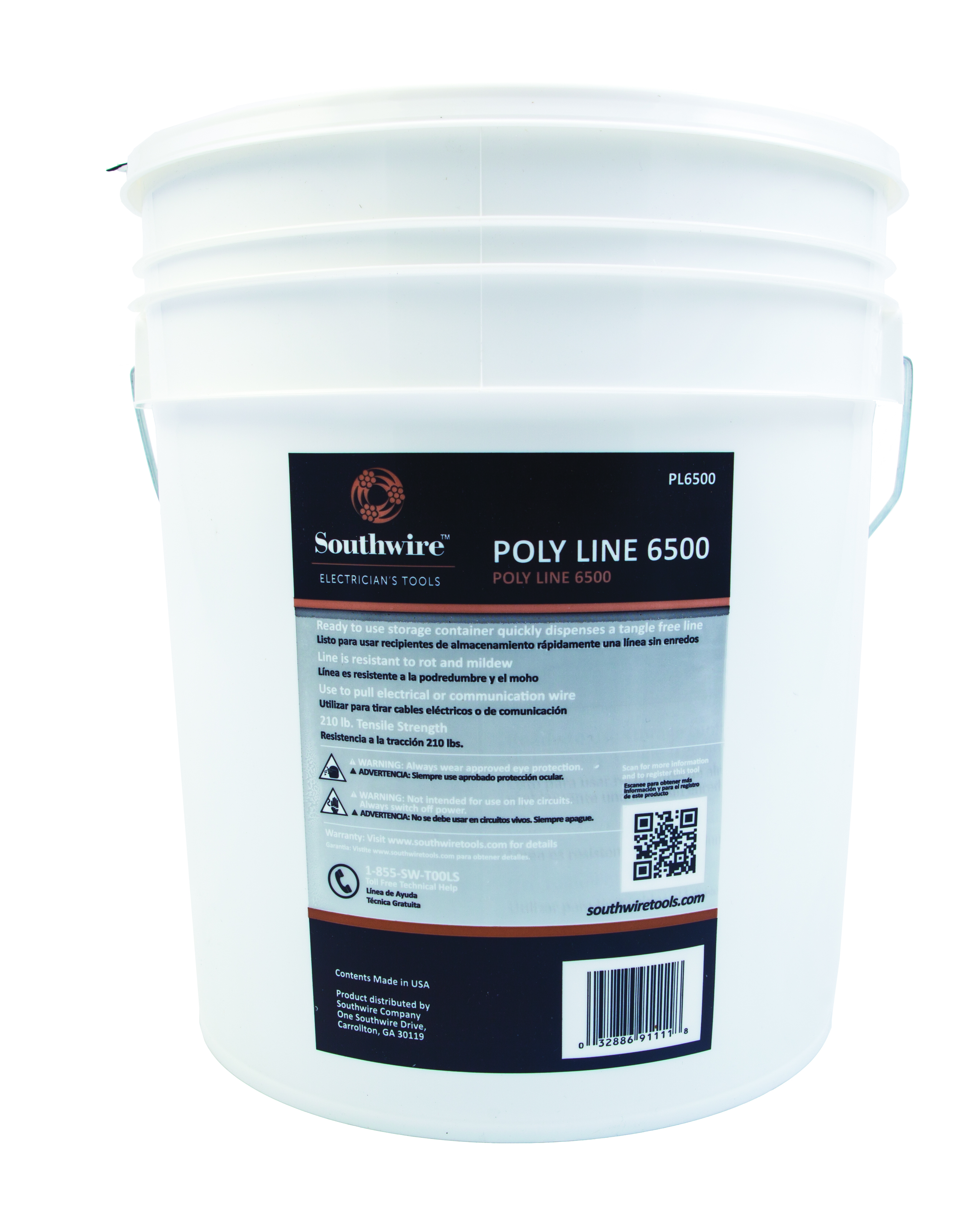 """SOUTHWIRE TOOLS """"POLY, LINE 6500' 210 TENSILE STRENGHT"""" 1 EA"""