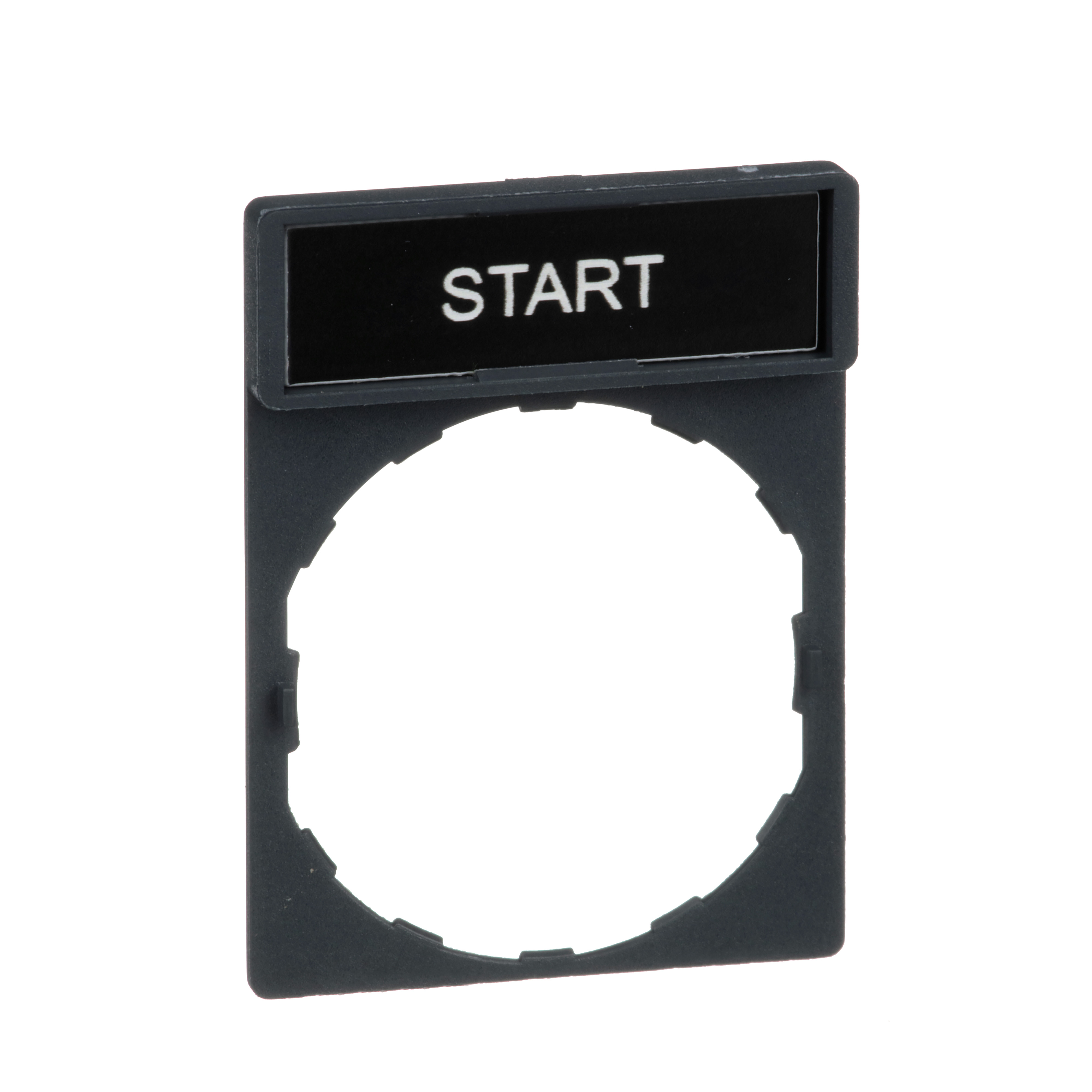 SQUARE D Harmony, 22mm Push Button, legend holder 30 x 40 mm, with legend 8 x 27 mm, marked START