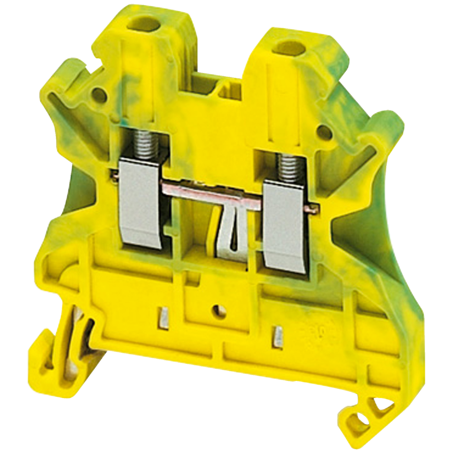 SQUARE D SCREW TERMINAL, PROTECTIVE EARTH, 2 POINTS, 2,5MM², GREEN-YELLOW