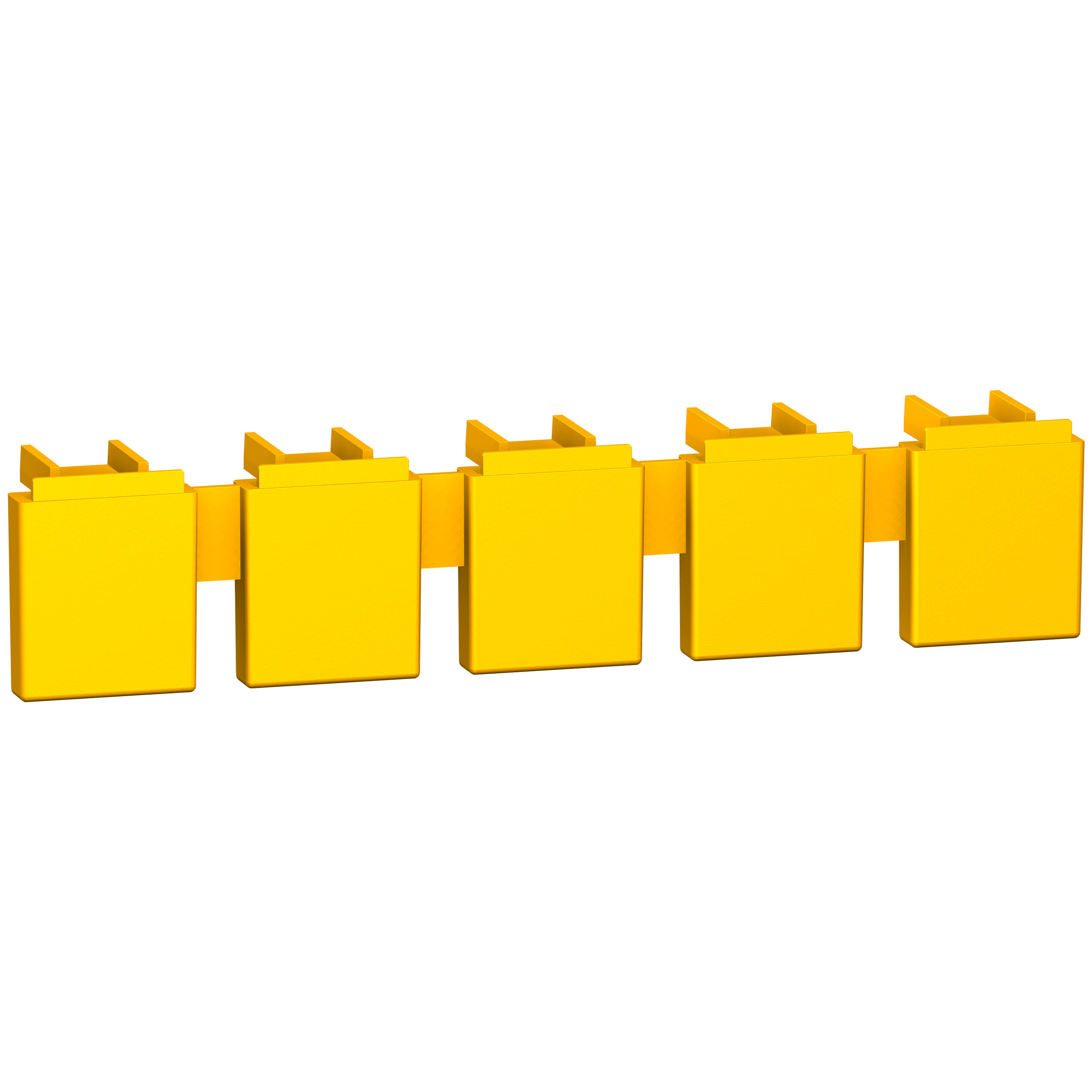 SQUARE D 1 set of 20 comb busbar tooth covers for C60 UL 1077