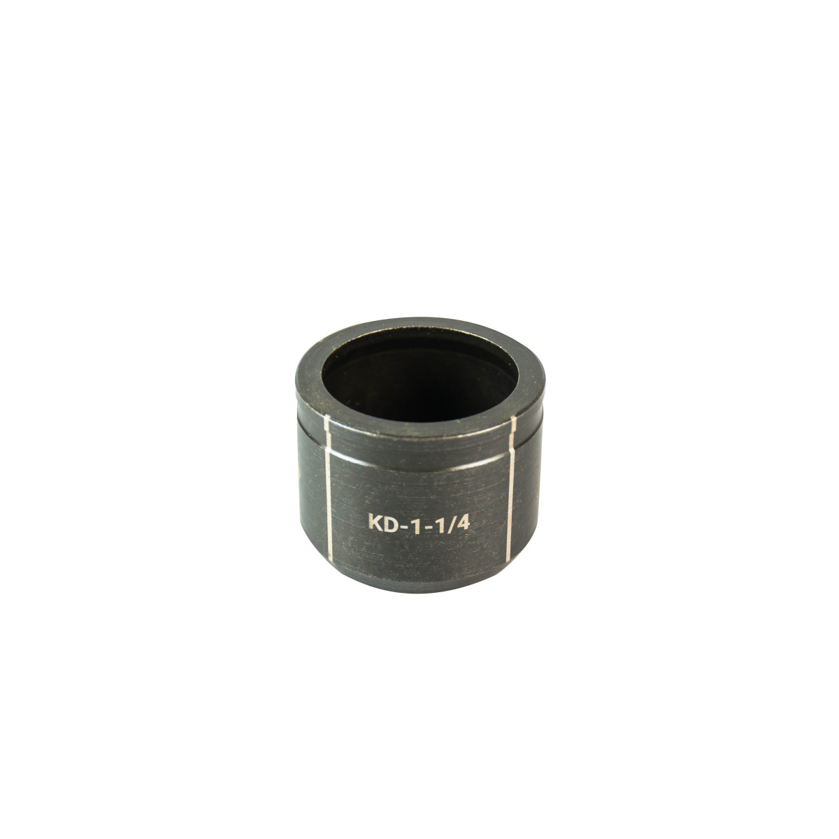 """GREENLEE 1-1/4"""" Conduit Size Knockout Die.  Optimized for widest range of materials and drivers.  Alignment markings for improved accuracy.  Laser markings for quick part identification.  Made in USA"""