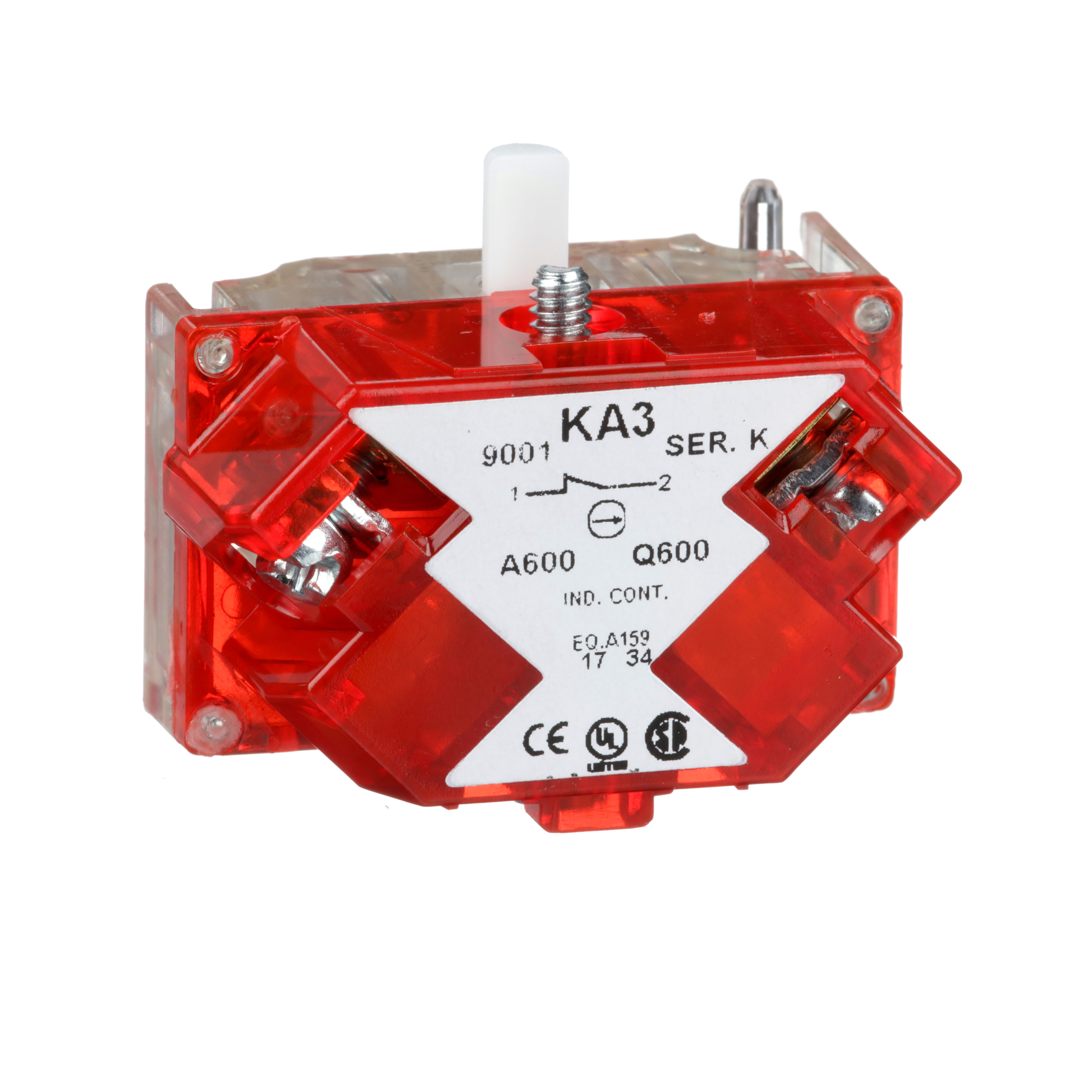 SQUARE D 30mm Push Button, Types K, SK or KX, contact block, 1 NC
