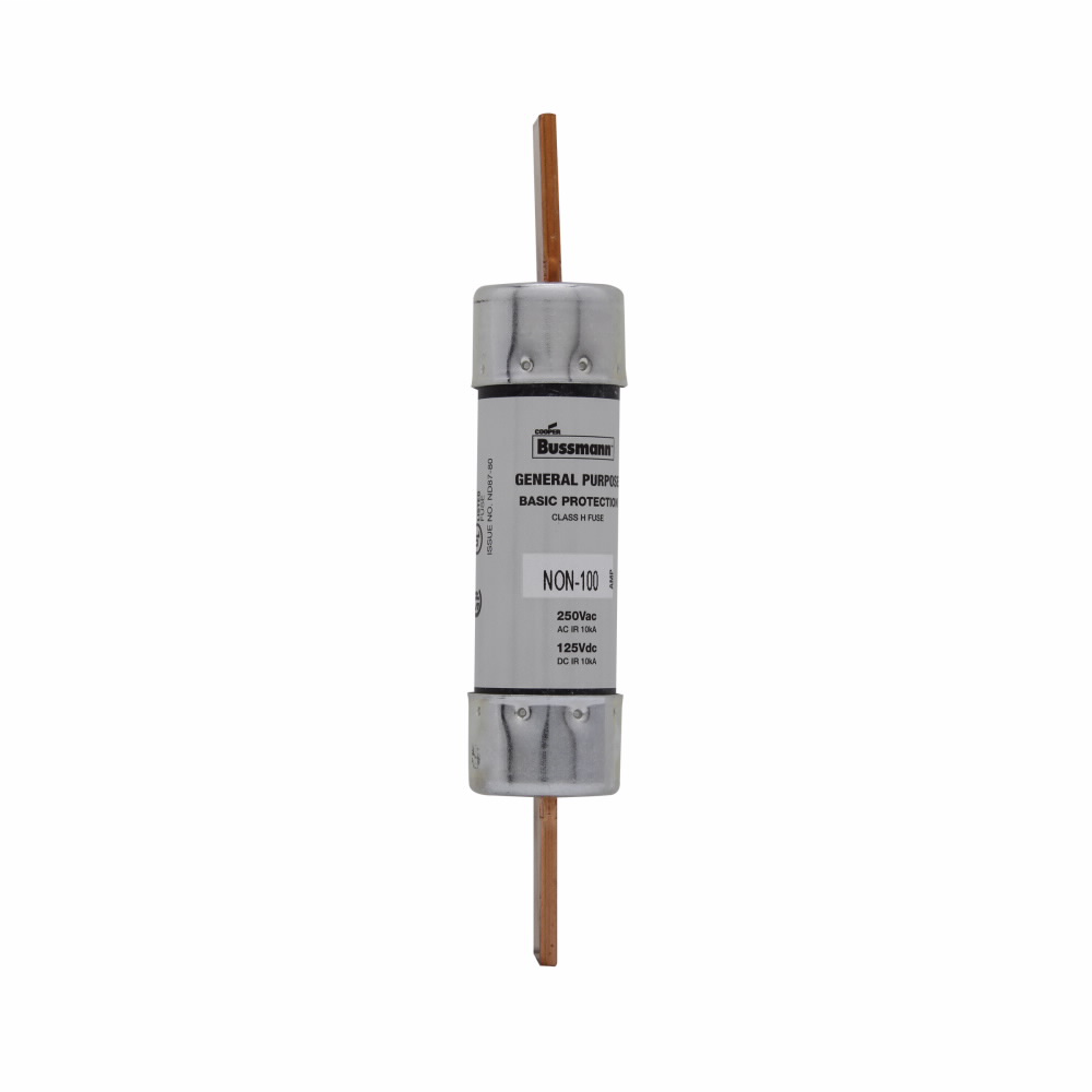 Eaton Bussmann Series NON Fuse, General Purpose Fuse, 70 A, 250 Vac, 125 Vdc, 10 kAIC at 250 Vac, 50 kAIC at 125 Vdc interrupt rating, Class H, Blade end X blade end connection, 5 units, Rejection style