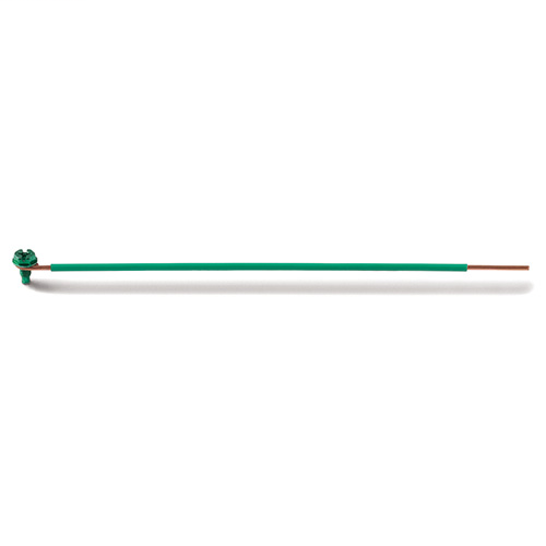 ENGINEERED PRODUCTS CO EPCO, Ground Bonding Pigtail, PigTails, Insulated Solid Wire, Conductor Size: 12 AWG, Insulation: THHN, Length: 8 IN, Size: 1 IN (Stripped), Includes: Captive GSH Ground Screw