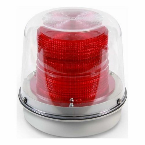 Heavy duty strobe designed for indoor and outdoor applications.  UL Listed for use in Division 2 applications.  May be direct or 3/4 in. conduit mounted on any plane.  Includes clear dome cover.