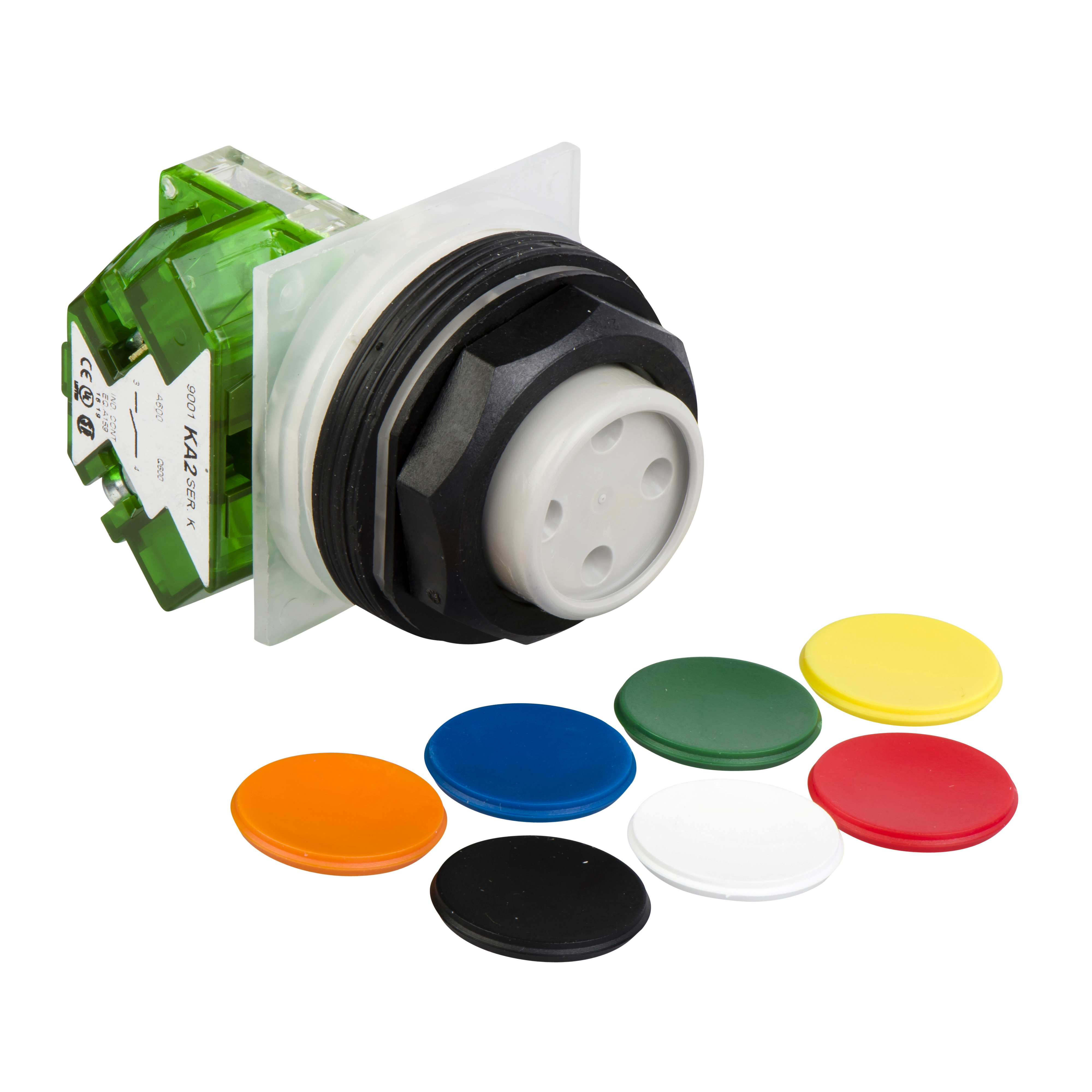 SCHNEIDER ELECTRIC 7 colors choice pushbutton Ø 30 - projecting spring return- 1NO