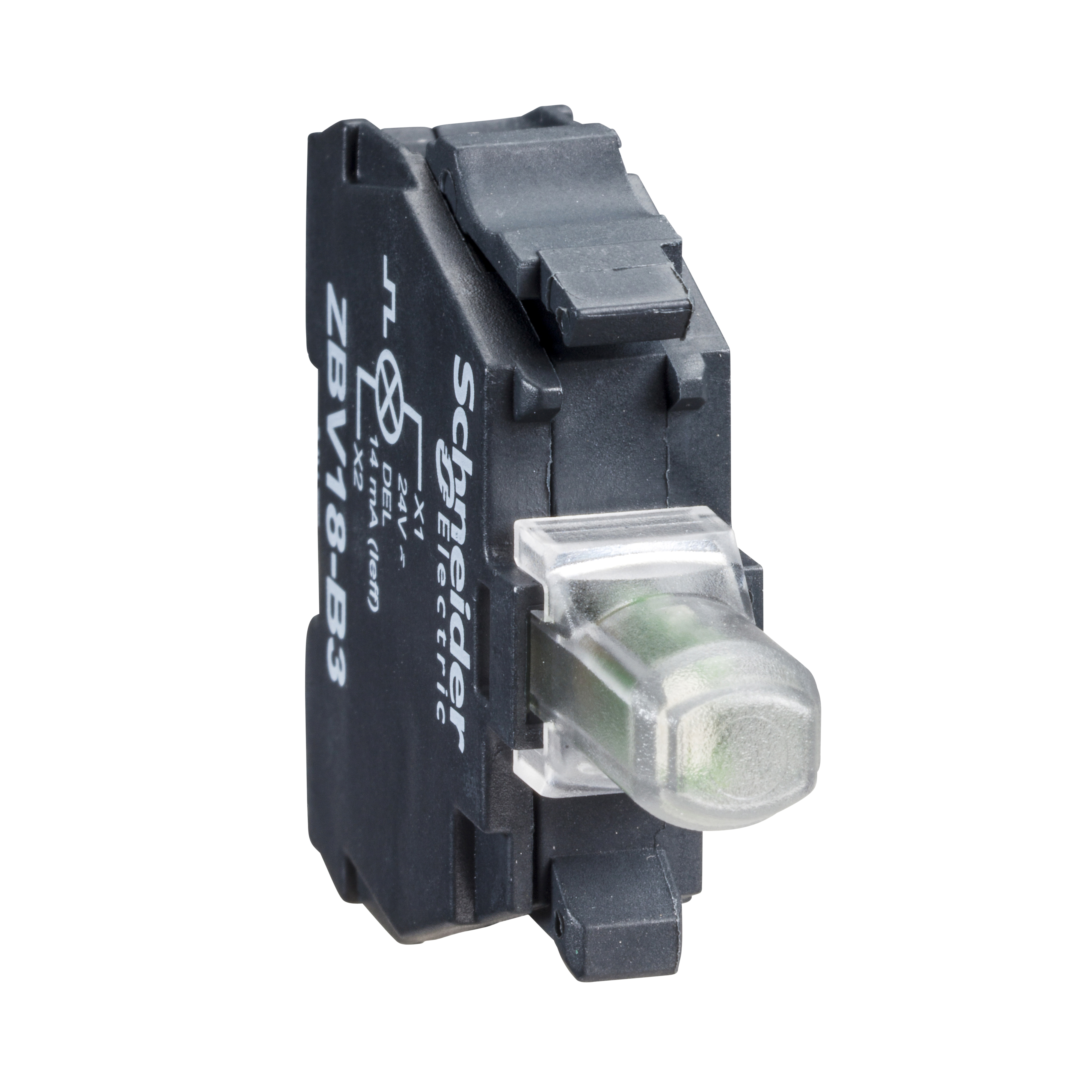 SQUARE D Green light block for head Ø22 integral LED 24...120V screw clamp terminals