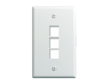 PASS & SEYMOUR 1-Gang 3-Port Wallplate 10-PK, WH