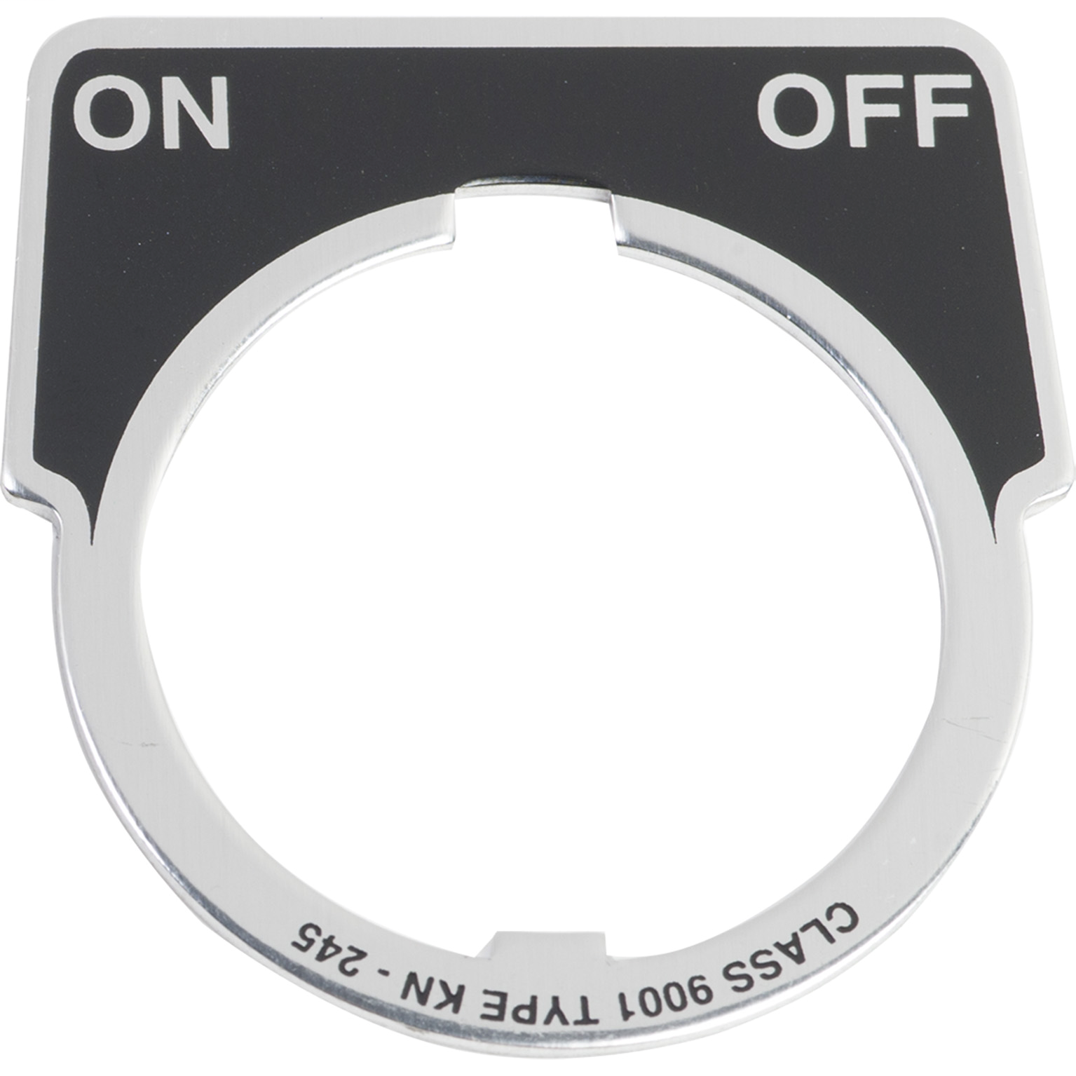 SQUARE D 30mm Push Button, Type K, aluminum legend plate, black, marked ON OFF
