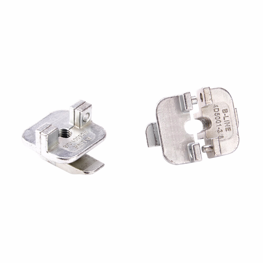B-LINE 4D TRAPEZE HANGER, 2PC TURN AND LOCK, FOR 3/8-IN. ALL THREAD ROD, ZN PLATED