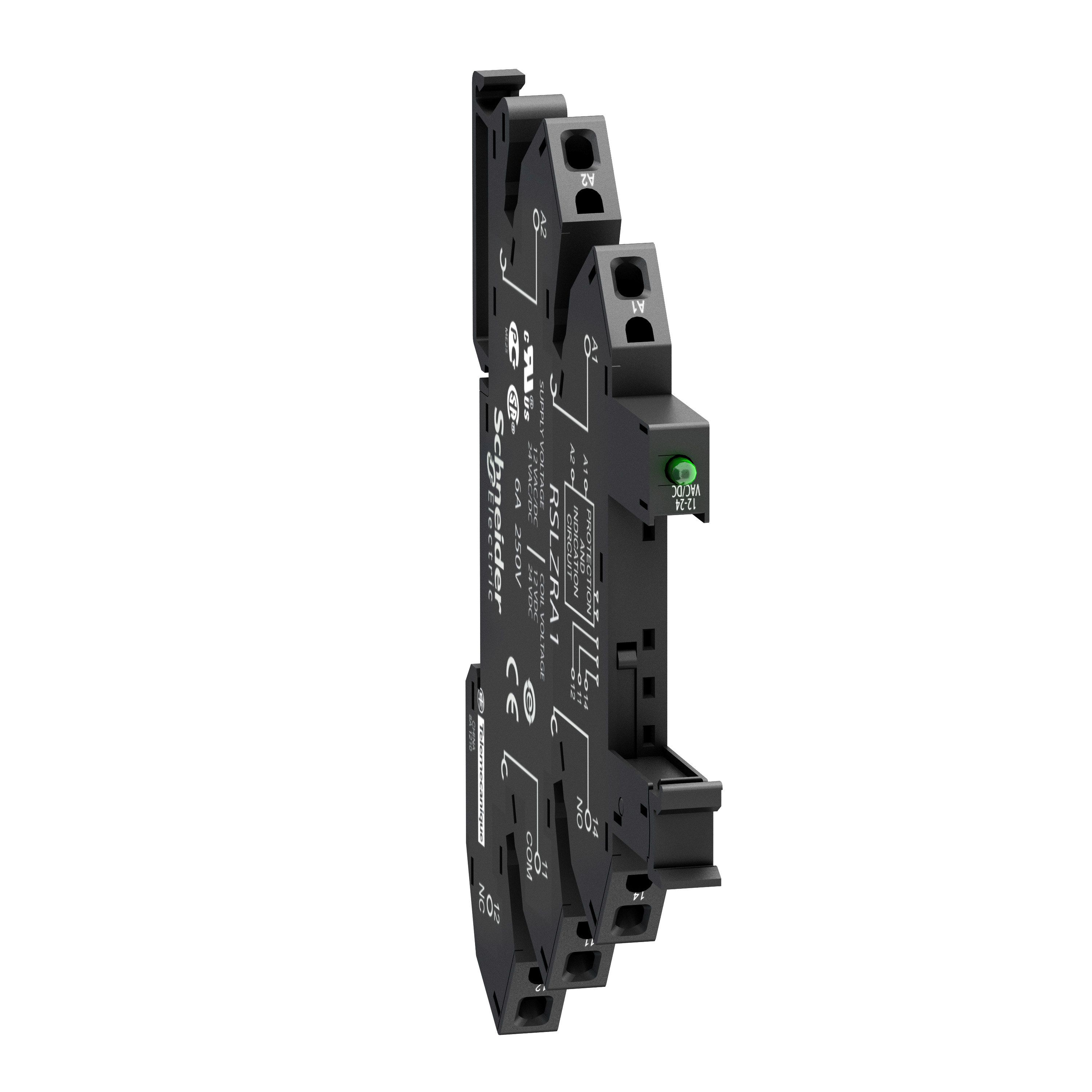 SQUARE D Spring socket equipped with LED and protection circuit, 110 V