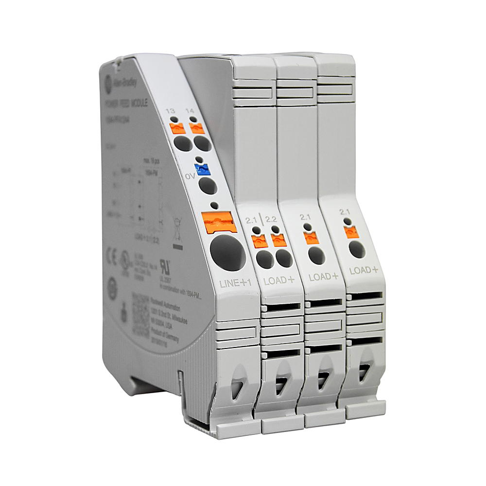 Electronic Circuit Protection, Power Feed, Left Mount, Supply Voltage  24V DC, Imax 40A, with AUX Contact