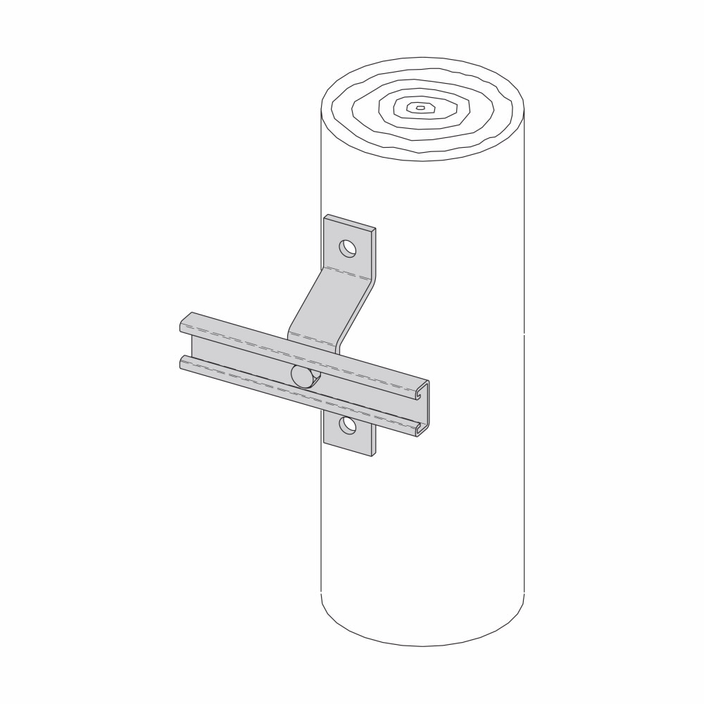 Eaton B-Line series strut fittings and accessories - Length 16 in, Width 4.375 in, Height 9.62 in - Steel