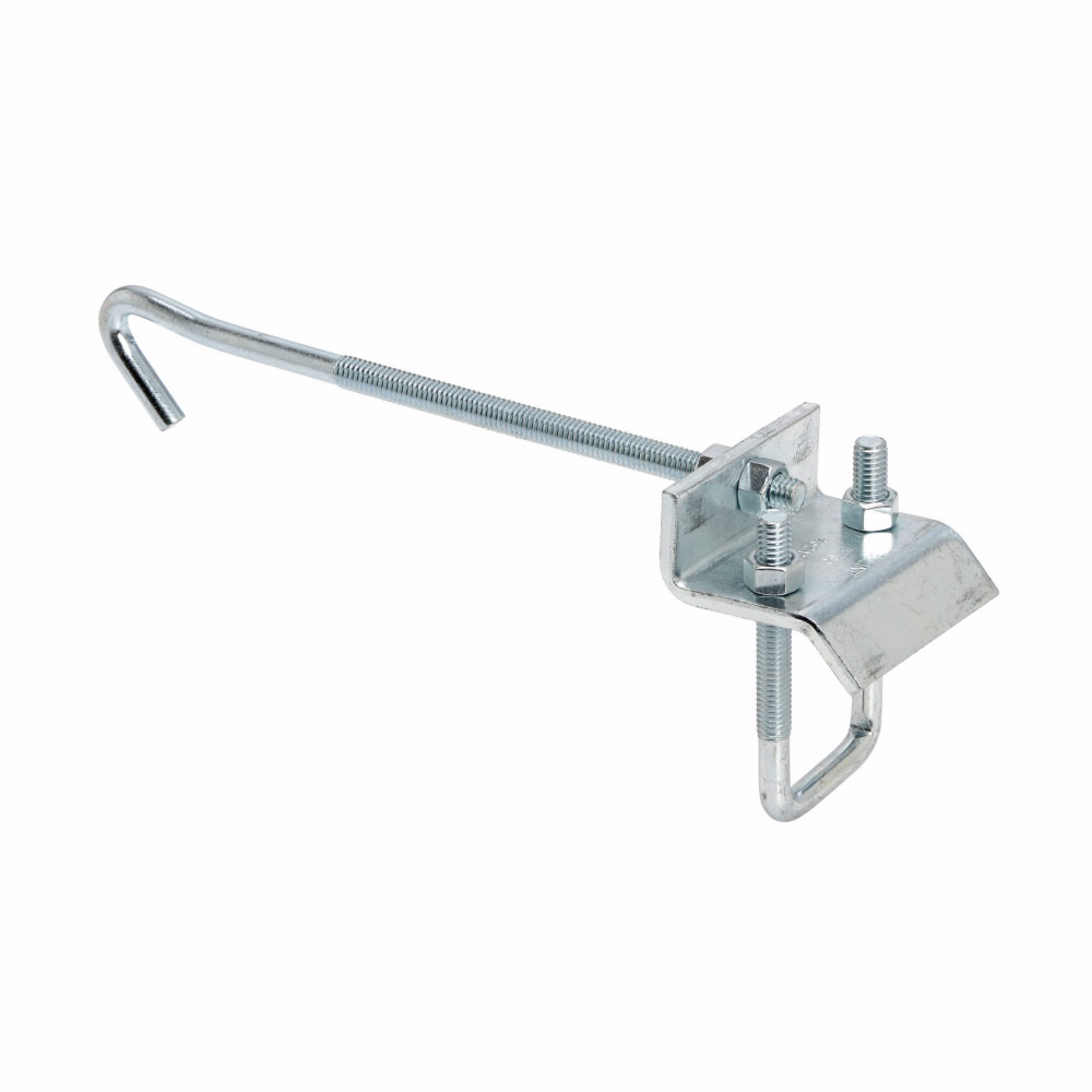 """Eaton B-Line series beam clamps, size 1-5/8""""; 1"""" beam thickness, 8-7/8"""" flange width, Electro-plated zinc"""