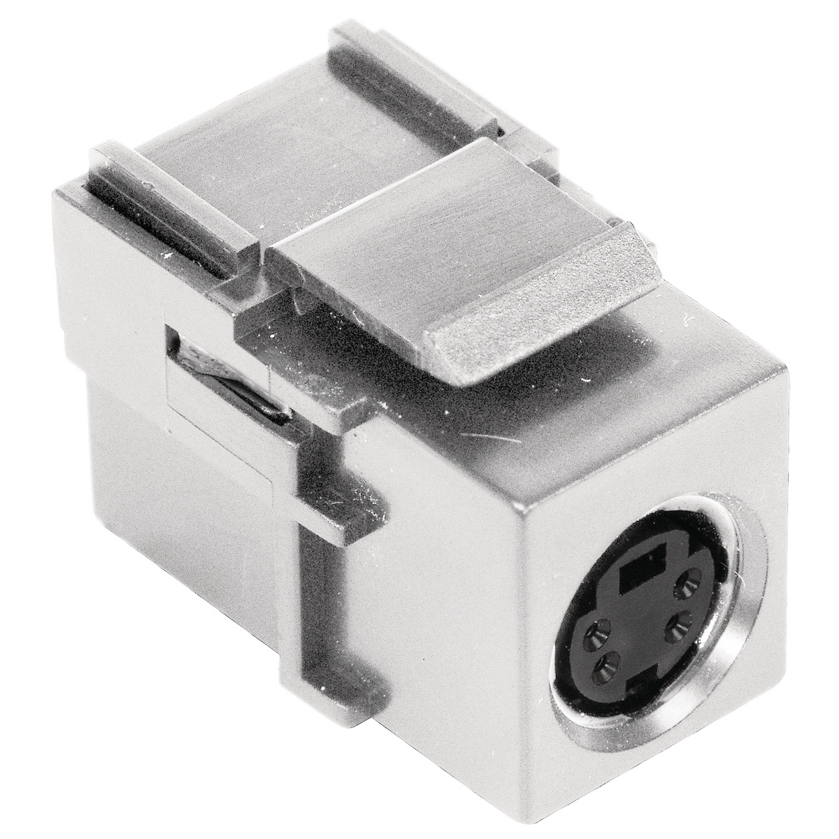 Hubbell Premise Wiring Products, Snap-Fit, S-Video Connector, Female toFemale, Office White