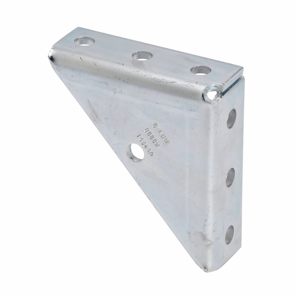 UNIVERSAL SHELF BRACKET, WELDED, 7-HOLE, ZINC PLATED