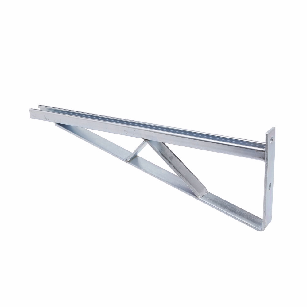 BRACED SINGLE BRACKET, 24-IN., ZINC PLATED
