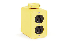 Super-Safeway® Multiple Outlet Box, Extended Depth, 2-Sided, NEMA 5-15, Cord Clamp, Duplex Cover Plates
