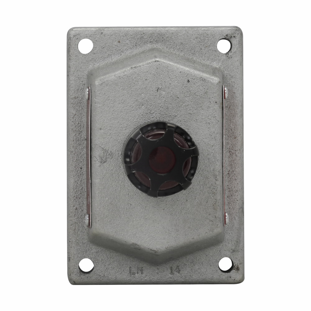 Eaton Crouse-Hinds series DSD pilot light cover and device sub-assembly, Red, Feraloy iron alloy, Factory sealed, One pilot light