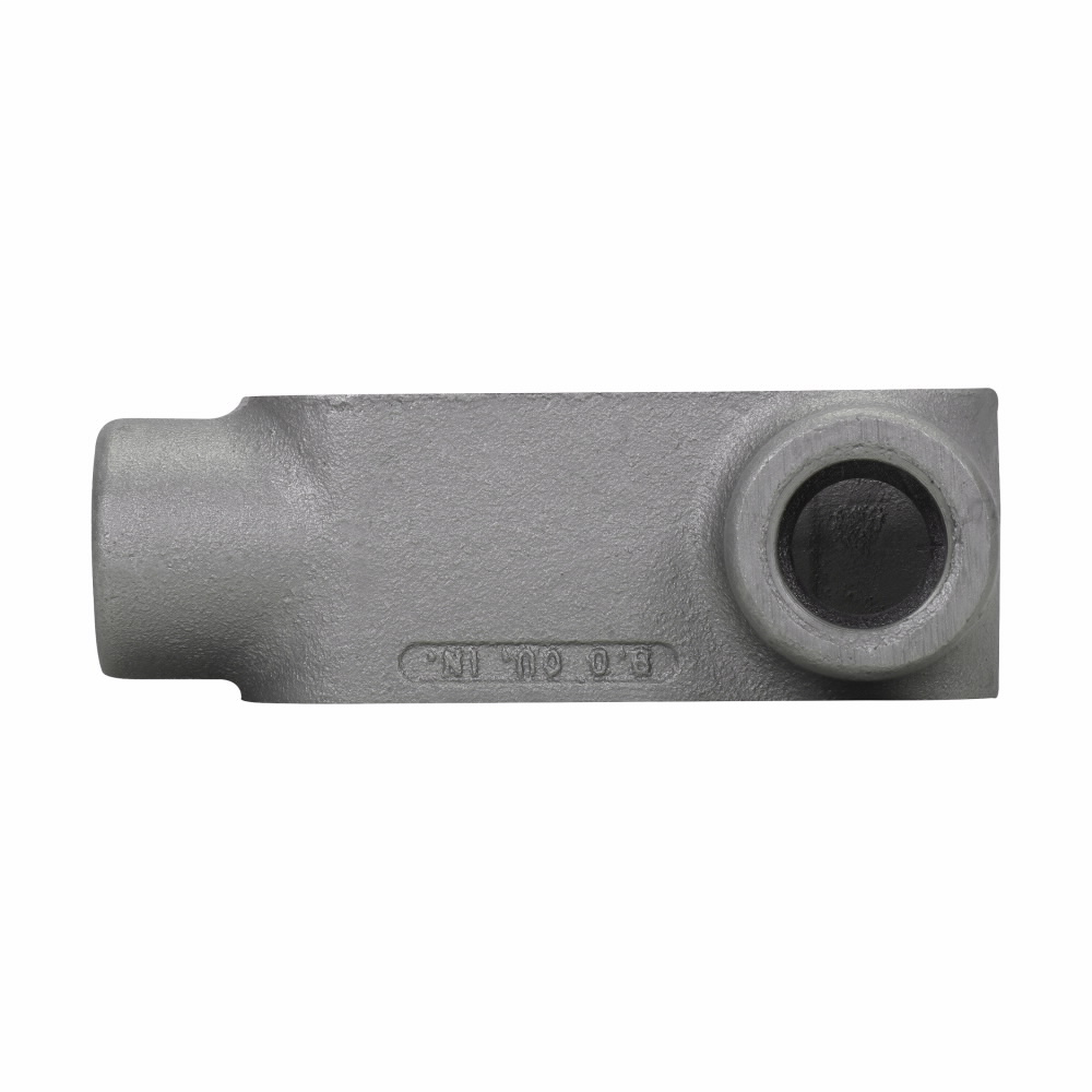 Eaton Crouse-Hinds series Condulet Form 7 conduit outlet body, Feraloy iron alloy, L shape, 3/4""