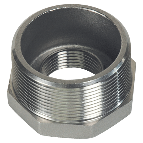 "4"" x 2"" Type 316 SS Hex Head Reducing Bushing, Electrical Conduit Fitting"