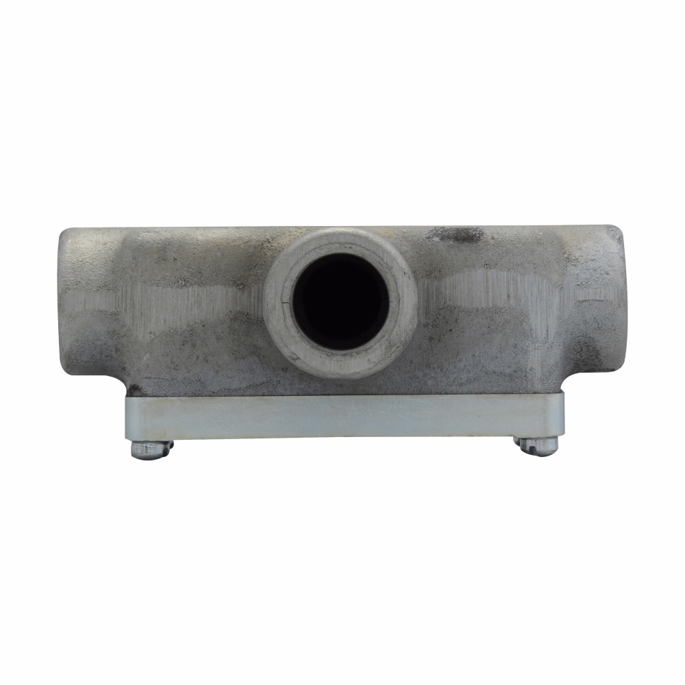 Eaton Crouse-Hinds series Condulet OE conduit outlet body with cover, Feraloy iron alloy, T shape, 1/2""